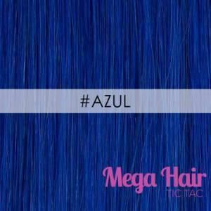 Mega Hair Fita Adesiva Cabelo Humano Cor #Azul