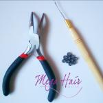 Microlink Kit Alicate e Agulha para aplicação Mega Hair