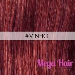 Mega Hair Microlink Cabelo Humano Cor #Vinho