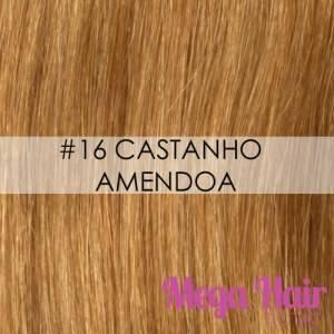 Mega Hair Microlink Cabelo Humano Cor #16 Castanho Amêndoa