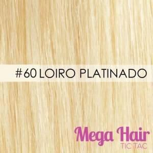 Mega Hair Microlink Cabelo Humano Cor #60 Loiro Platinado