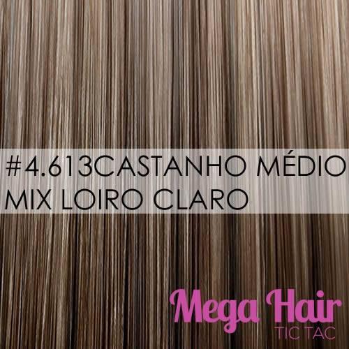 #4/613 Castanho Médio mix Loiro Claro
