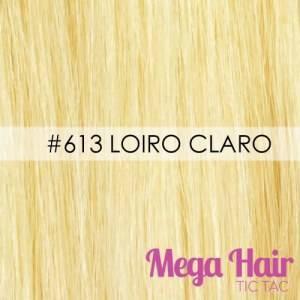 Mega Hair Ponta Queratina 51 Cm 100 Mechas 50 Grama Cabelo Humano Cor #613 Loiro Claro