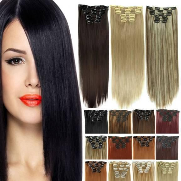 Mega Hair Tic Tac Cabelo Organico Sintetico Alta Qualidade 7 Pecas