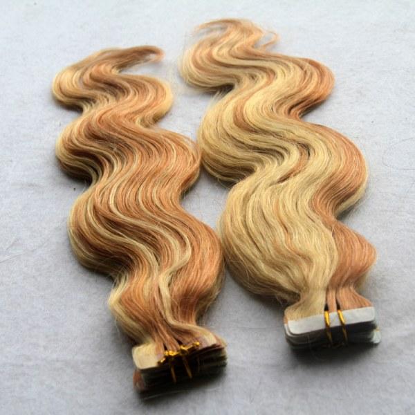 Mega Hair Fita Adesiva 51 cm – 100 Gramas Cabelo Ondulado Humano Cor 27 613 1
