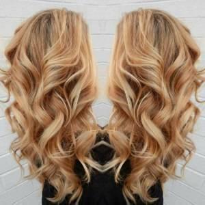 Mega Hair Fita Adesiva Ondulado Cabelo Humano Cor #27/613