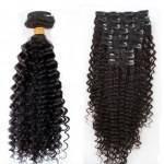 Mega Hair Tic Tac Encaracolado Cabelo Humano 51cm – 7 Peças 120 gramas #1B Preto Natural