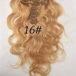 Cabelo Humano Ondulado 70 gramas com Presilhas Tic Tac 39 a 71 centímetros