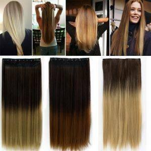 Mega Hair Tic Tac Ombre Hair Cabelo Sintético 1 Peça 61 cm 120 gramas
