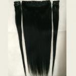 Mega Hair Tic Tac 5 Peças Cabelo Humano # 1 Preto