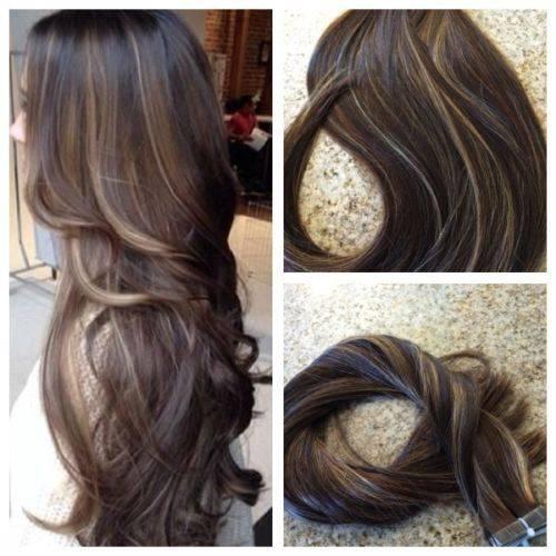 Mega Hair Fita Adesiva Cabelo Humano Liso Balaiagem Mechas