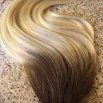 Mega Hair Fita Adesiva Cabelo Humano Liso Ombre Castanho com Loiro