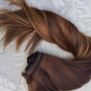 Mega Hair Tic Tac Cabelo Humano Balaiagem Ombre #4/26