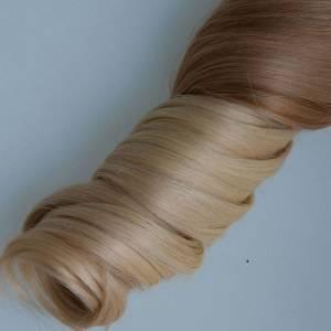 Mega Hair Tic Tac Ondulado Cabelo Humano Remy 7 Peças Loiro Ombre