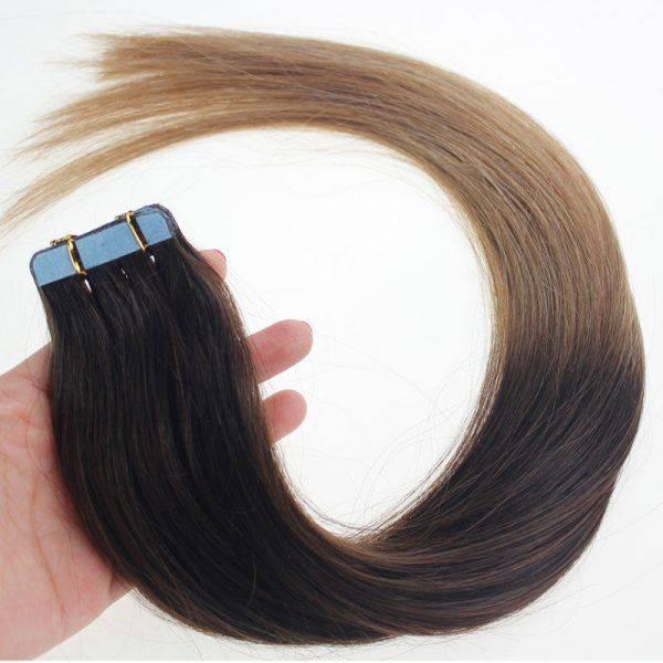 mega hair fita adesiva ombre 2 12