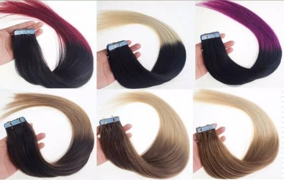 mega hair fita adesiva ombre hair 20 pecas