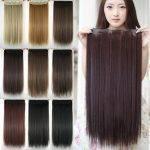 Mega Hair Tic Tac Cabelo Sintético 60 cm 110 Gramas Liso Resistente Ao Calor