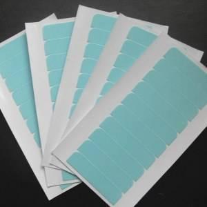 Super Hair Tape Cartela Azul 10 ADESIVOS 4 cm * 1 cm de Alta Qualidade Fita Adesiva Dupla Face Forte
