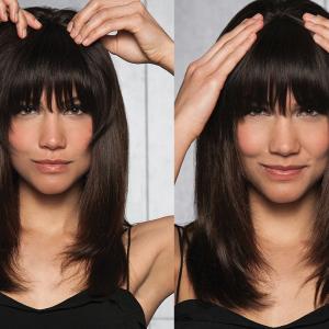 Franja Tic Tac cabelo Humano 25cm 30 gramas