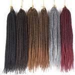 5 pacotes Tranças para Crochet Braids Kanekalon Ombre 35 cm a 61 cm