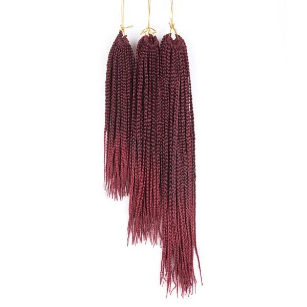 5 pacotes Tranças para Crochet Braids Kanekalon Ombre 35 cm a 61 cm cor bug