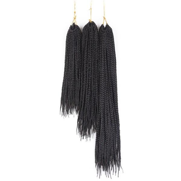 5 pacotes Tranças para Crochet Braids Kanekalon Ombre 35 cm a 61 cm preto