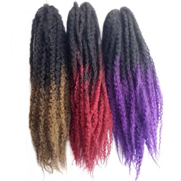 Crochet Braids Ombre Afro fibra sintética 50 cm