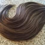 Mega Hair Fita Adesiva Cabelo Humano Liso Balaiagem CastanhoChocolate com Loiro Claro