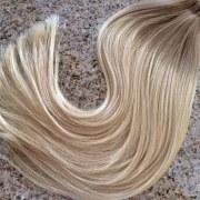 Mega Hair Fita Adesiva Cabelo Humano Ombre Loiro escuro acinzentado com Loiro Claro 2