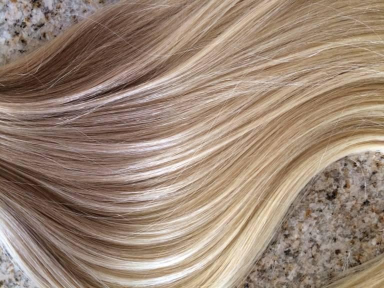 Mega Hair Fita Adesiva Cabelo Humano Ombre Loiro escuro acinzentado com Loiro Claro 4