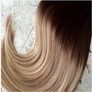Mega Hair Tic Tac Cabelo Humano 140 Gramas Ombre Castanho Médio e Loiro Claro #4 613 2