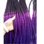 kit 5 pacotes Tranças para Crochet Braids Cabelo Sintético 56 cm Ombre