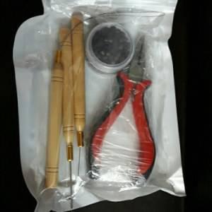 Microlink Kit para Mega Hair 200 anéis + 1 Gancho+ 1 alicate + 1 Agulha