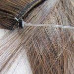 Mega Hair Flip Cabelo Ondulado Sintético Alta Temperatura 56 cm 50g Cor Cinza Ombre