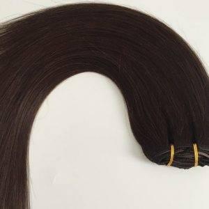 Mega Hair Tic Tac Cabelo Humano 7 peças Cor # 02 Castanho Escuro