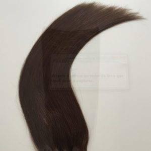 Mega Hair Tic Tac Cabelo Humano 7 peças Cor # 04 Castanho Médio