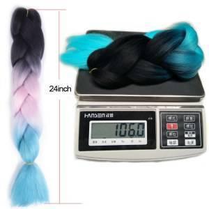 Ombre Kanekalon 6 pacotes Fibra Trança Extensões de Cabelo 100g Dois Tons Tranças Jumbo Sintético Cabelo Trança de Crochê 100 cores