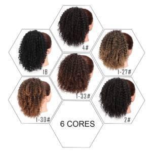 Rabo de cavalo cabelo afro orgânico sintético