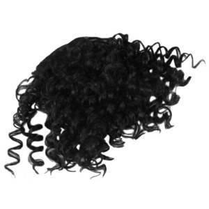 Franja Kinky Curly Cabelo Afro orgânico fibra sintética