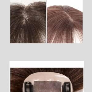 Franja cabelo humano lateral 25 cm longa 3D